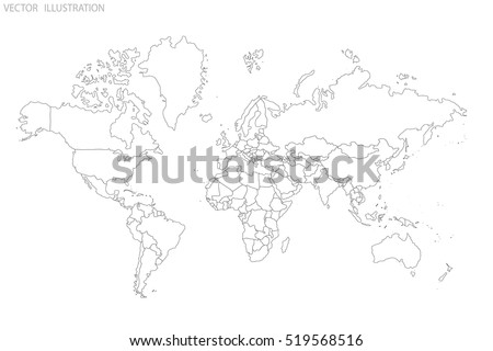 Country border download free vector art stock graphics images political map of the world world map outline gray world map countries gumiabroncs Image collections