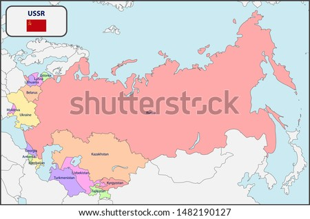 political map of ussr with names
