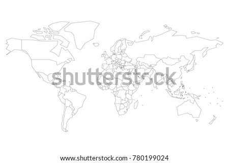 World continents map vector download free vector art stock political map of world with dots instead of small states blank map for school quiz gumiabroncs Images