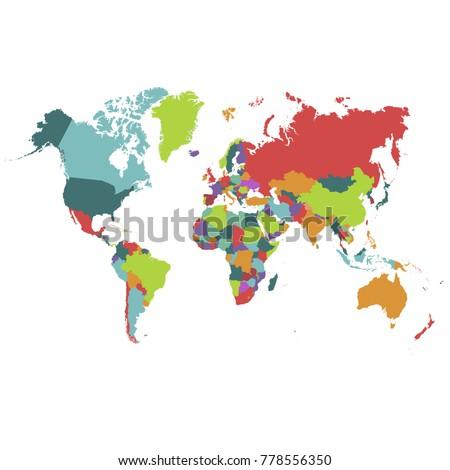 Political world map #778556350