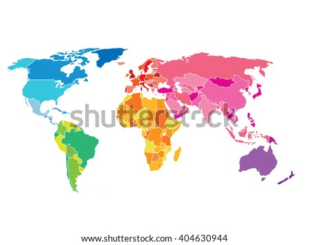 Colorful world map vector design descargue grficos y vectores gratis political world map detailed world map of rainbow colors gumiabroncs Images