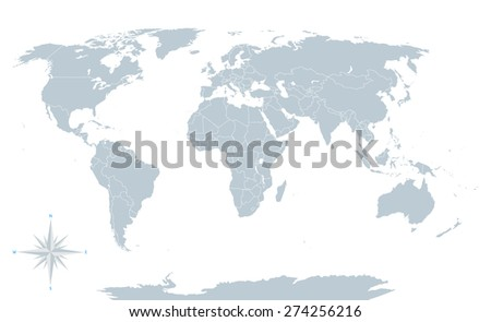 Vector mapa gris de los estados unidos descargue grficos y political world map grey with white borders every state and continent labeled and gumiabroncs Choice Image