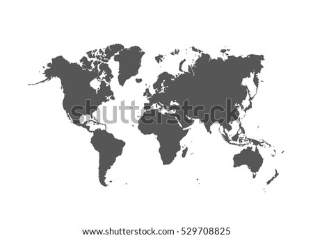 Political World Map vector Illustration.