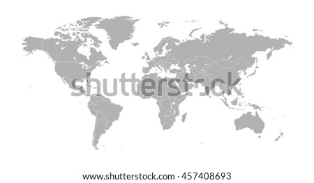 Country border download free vector art stock graphics images political world map with country borders gumiabroncs Image collections