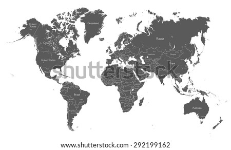 political world map with