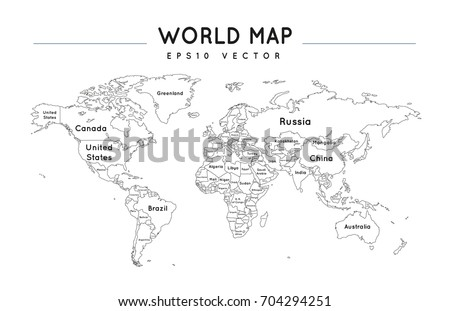 Iconswebsite icons website search icons icon set web icons editable political world map with the name and borders of the countries gumiabroncs Image collections