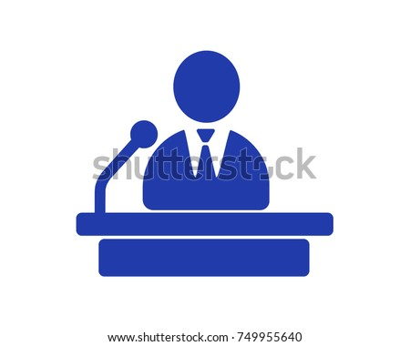 Politician, Public Speaker, Orator - High detailed isolated vector illustration