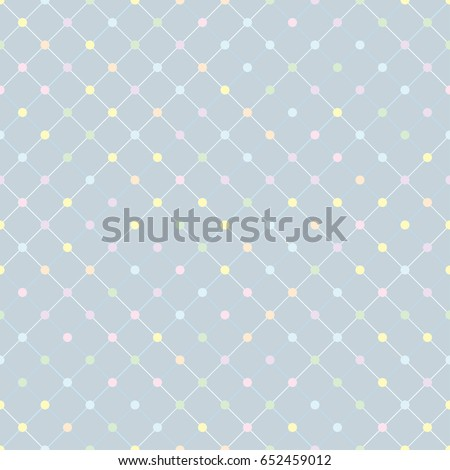 Polka dot cute pattern seamless background vector.