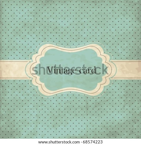 polka dot design  blue vintage...