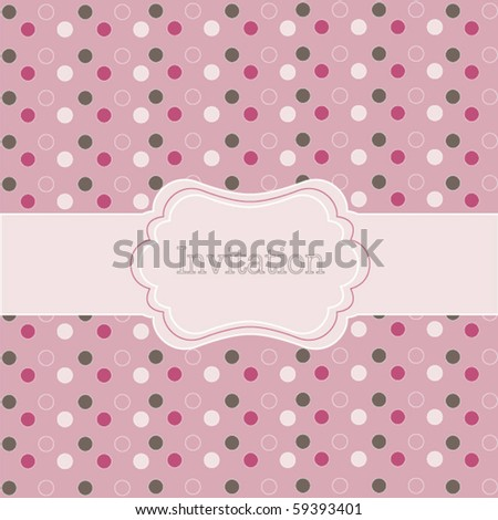 Polka dot design, frame on pink