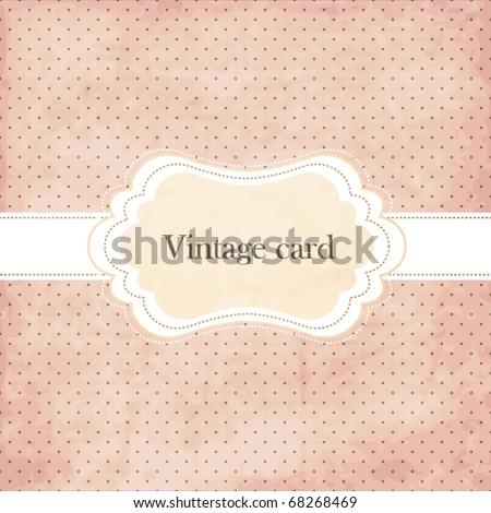 Polka dot design vintage frame