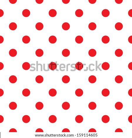 polka dot fabric retro vector