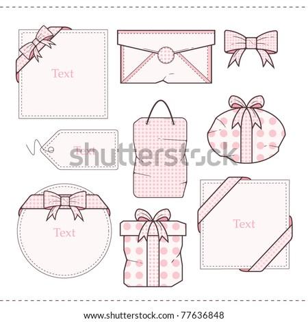 Polka Dot Gift  vector Set