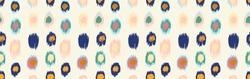 Polka Dot Pattern. Ikat geometric folklore ornament. Memphis vintage, retro style. Children, kids sketch drawing.