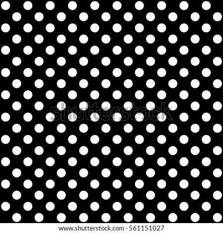 Polka dot pattern in black and white, vector design Stock photo ©