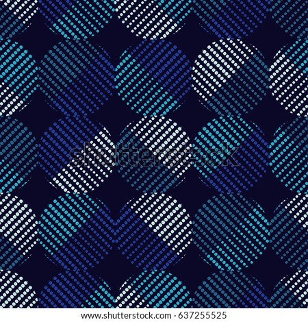 Polka dot pattern of dots. Vector seamless background. Colorful abstract geometric ornament.