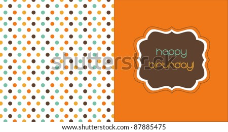 Polka dot postcard, birthday card