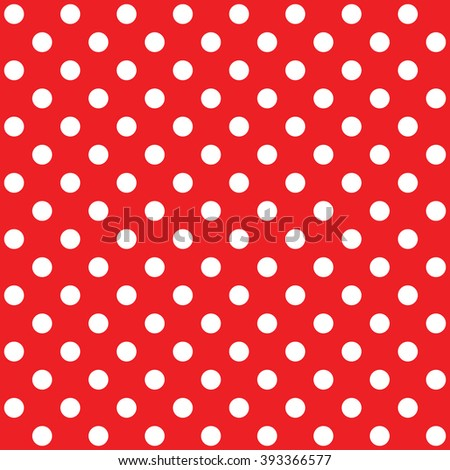 polka dot red vector seamless