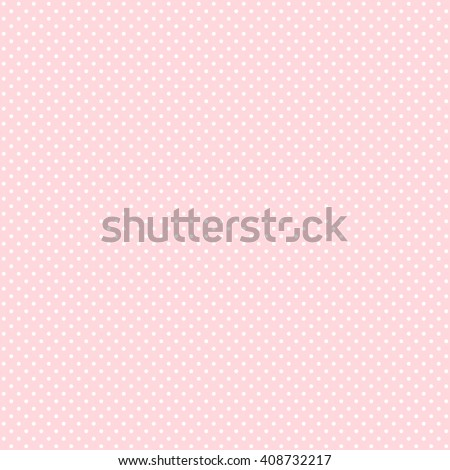 Polka dot seamless pattern. White dots on pink background. Good for design of wrapping paper, wedding invitation and greeting cards.