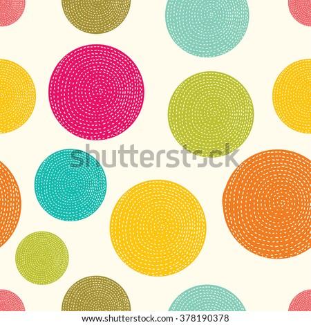 Polka dot. Vector seamless pattern. - stock vector