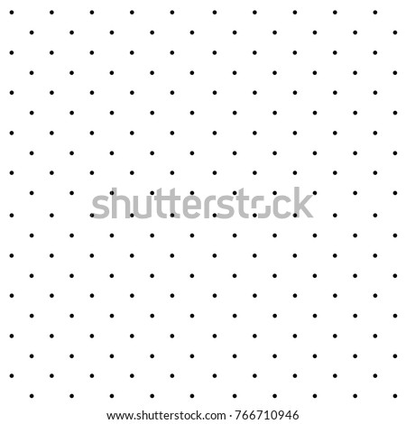 Polka Dot. White Background. Black Dots. Seamless Pattern.