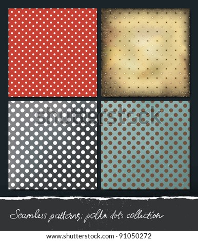 Polka dots backgrounds collection. VEctor, EPS10.