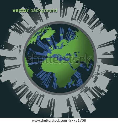 Polluted Globe Vector