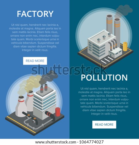 pollution industry isometric