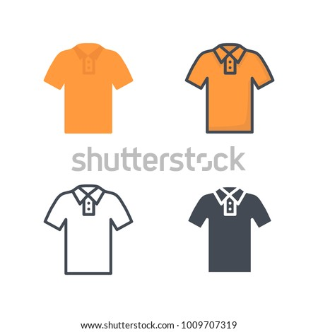 Polo clothes flat line icon