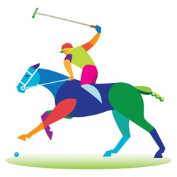 Polo horse game