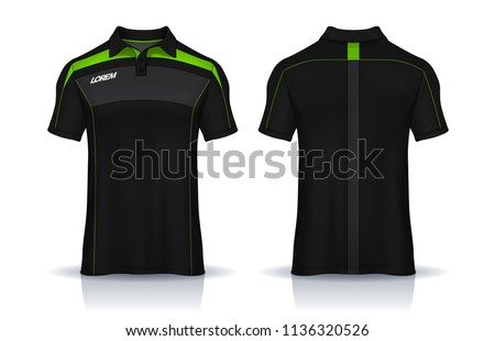 Polo shirt templates design. uniform front and back view.