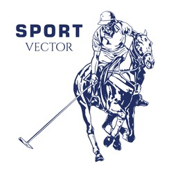 Polo Sport Drawing Vector Sport