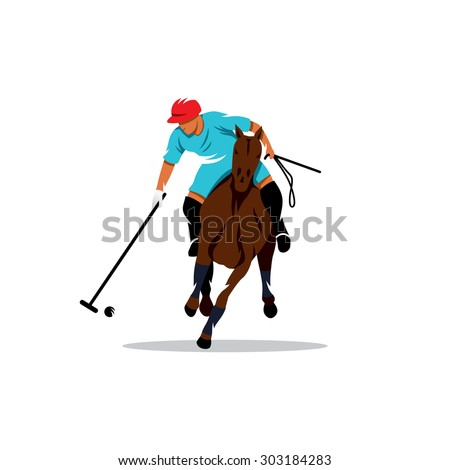 polo sport player on horseback