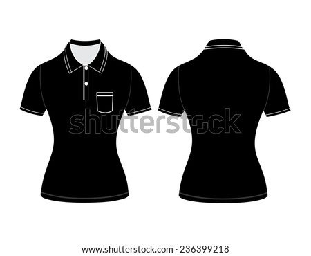 b627f4bf1 polo woman shirt design templates (front and back views). Vector  illustration