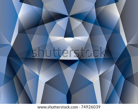 polygon abstract background - illustration