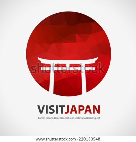 polygon design abstract japan element visit japan stock vector 220130548 shutterstock. Black Bedroom Furniture Sets. Home Design Ideas