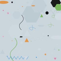 Polygon Green Zigzag Lines Grey Geometrical Art Illustration. Orange Black Shadows Calm Modern Hipster Background. Silver Triangle Oval Modern Art Pattern. Pastel Chaos Pink Blue Vector Illustration.