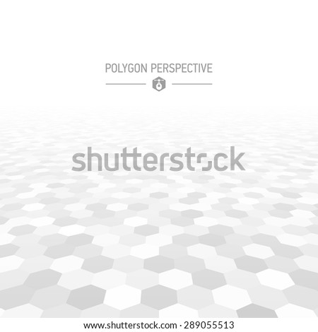 Polygon shapes perspective background vector illustration #289055513