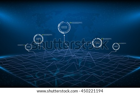 polygon wireframe landscape