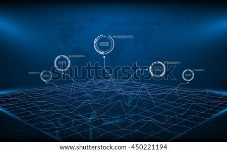 polygon wireframe landscape