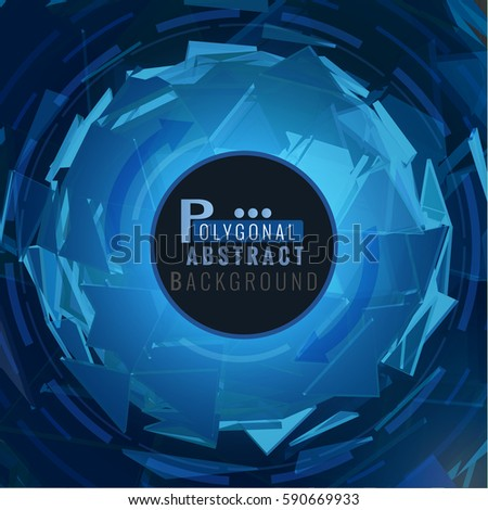 polygonal abstract blue