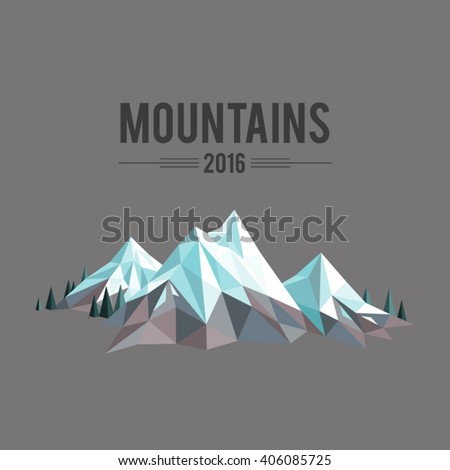 polygonal abstract snow capped
