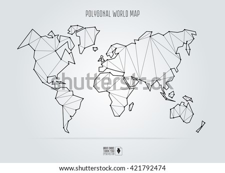 polygonal abstract world map