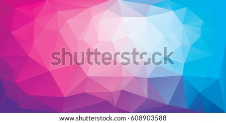 polygonal background of triangles in pink and blue colors triangular banner template low poly