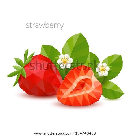polygonal berry   strawberry