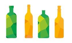 polygonal bottle for logo or icon