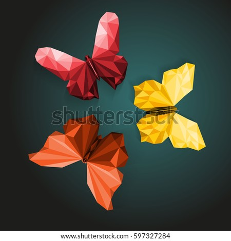polygonal butterflies