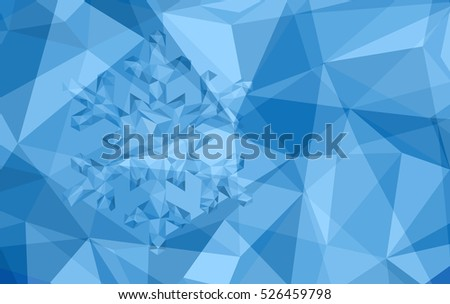 Polygonal Christmas snowflake background. Vector illustration