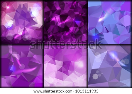 polygonal collection violet