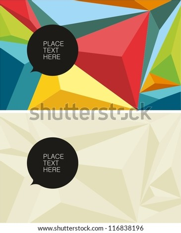 Polygonal color texture
